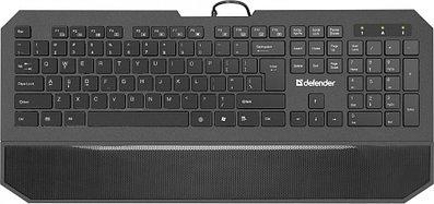 Проводная мультимедийная слим-клавиатура Defender Oscar SM-600 Pro