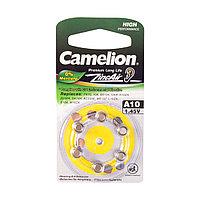 Батарейка CAMELION Zinc Air A10-BP6(0%Hg) 6 шт. в блистере