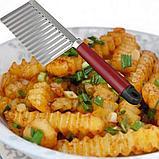 Кухонный волнистый нож для фигурной нарезки овощей и фруктов., фото 2