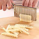 Кухонный волнистый нож для фигурной нарезки овощей и фруктов., фото 8