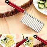 Кухонный волнистый нож для фигурной нарезки овощей и фруктов., фото 3