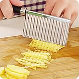 Кухонный волнистый нож для фигурной нарезки овощей и фруктов., фото 9