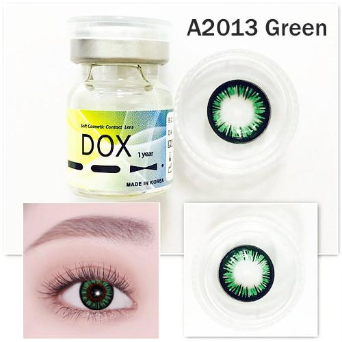 Цветные линзы DOX (A2013 Green) от -0.75 до -4.75