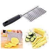 Кухонный волнистый нож для фигурной нарезки овощей и фруктов., фото 6