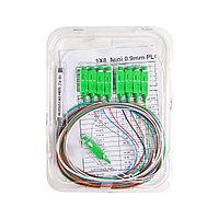 Сплиттер оптоволоконный PLC А-Оптик 1х8 SC/APC 1,5m SM