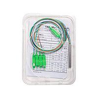 Сплиттер оптоволоконный PLC А-Оптик 1х4 SC/APC 1,5m SM