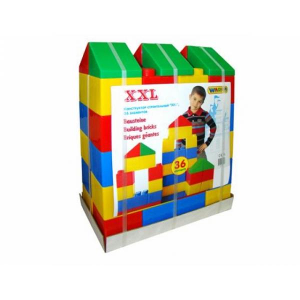 Конструктор строительный XXL, 36 элементов