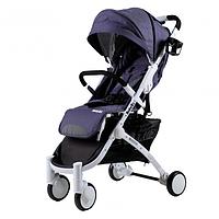 Прогулочная коляска Babyzz  D200 -джинс белая рама, фото 1
