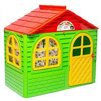 Домик детский малый, со шторками зеленый, фото 1