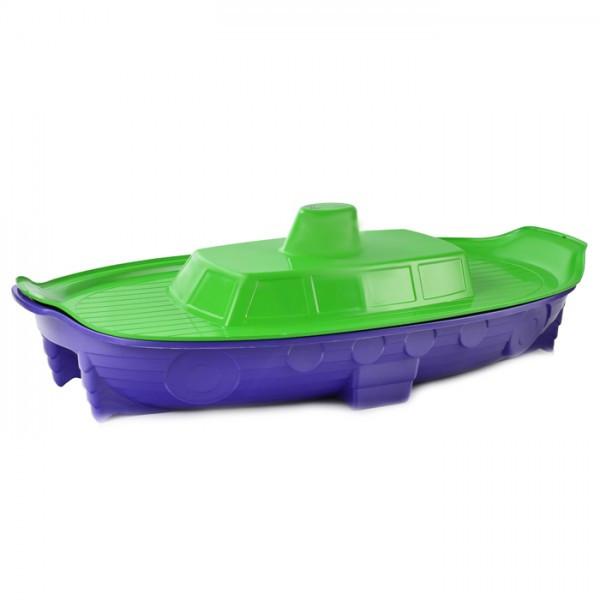 """Песочница (бассейн) с крышкой """"Корабль""""DOLONI"""