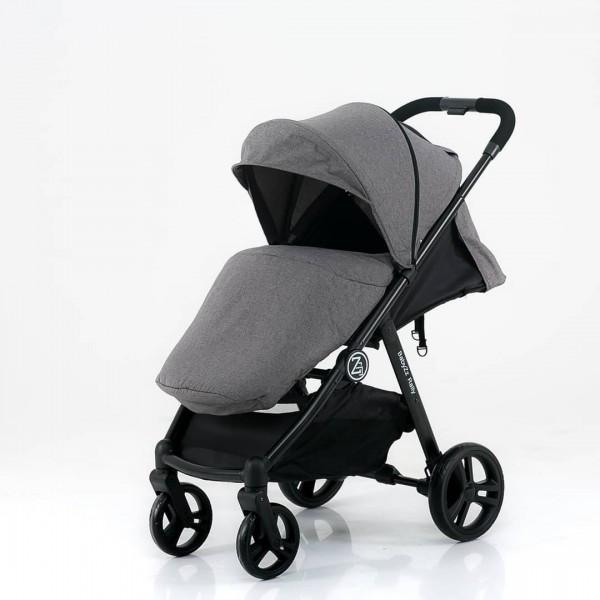 BabyZz Прогулочная детская всесезонная коляска Rally серый