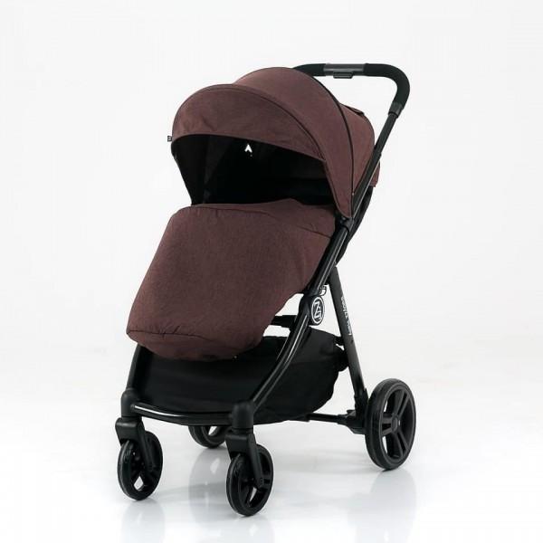 BabyZz Прогулочная детская всесезонная коляска Rally коричневый