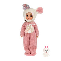 Кукла Эмили Мулиша в костюмчике Зайки Ванильное небо , 28 см.