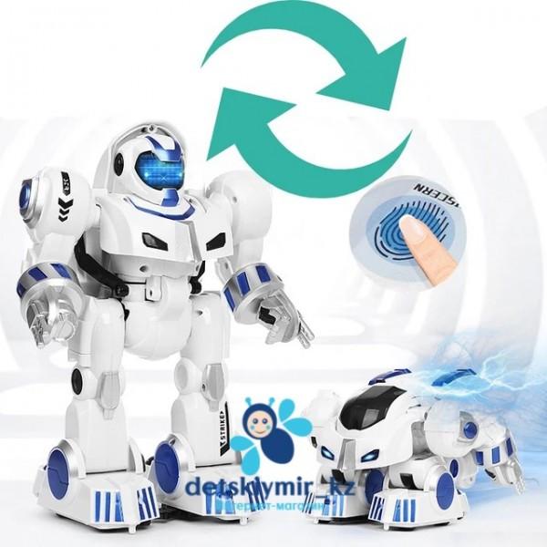 Робот-трансформер с супер-способностью запуска деформации по отпечатку пальца.
