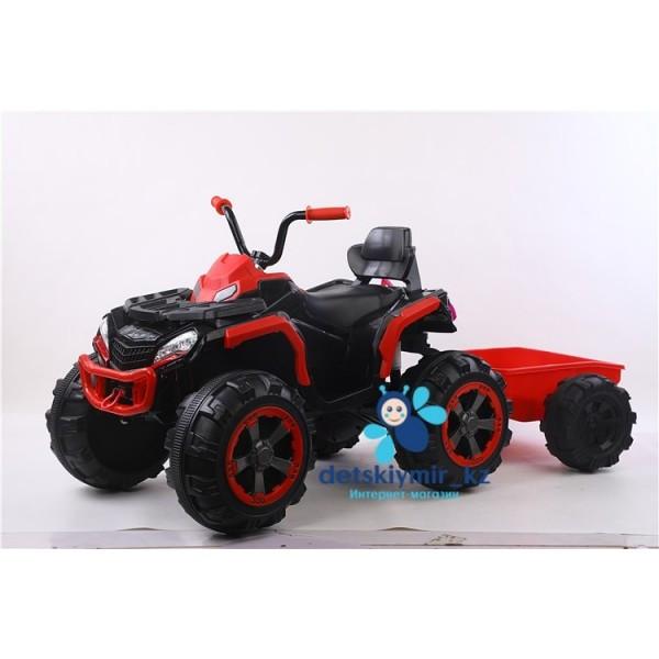 Детский электроквадроцикл Grizzly с прицепом