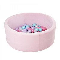 """Сухой бассейн 90*30 см. с комплектом из 100 шаров """"Pink"""""""