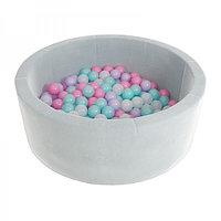 """Сухой бассейн 90*30 см. с комплектом из 100 шаров """"Grey"""""""