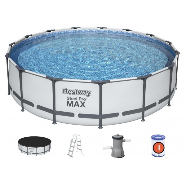 56488 Bestway Каркасный круглый бассейн Steel Pro Max 457х107 см