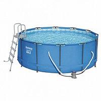 Каркасный бассейн Bestway 366х133 см + фильтр-насос 2006 л/ч, лестница (15427)