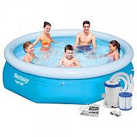 Бассейн надувной Bestway Fast Set Pools 305х76 см + фильтр-насос 1249 л/ч Bestway 57270