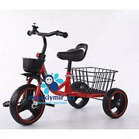 Детский трёхколёсный велосипед с большим багажником