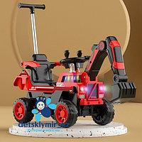 Детский электромобиль эскаватор– каталка