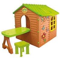 Игровой домик Mochtoys 11045 со стулом и столом
