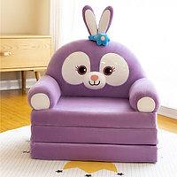 Детское кресло раскладушка Зайка