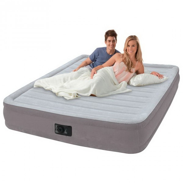 Надувная кровать Intex 67770 Comfort-Plush Mid Rise Airbed 152x203x33 см