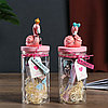 "Сувенир полистоун ""Фламинго"" светящаяся баночка, 17,5х6,5х6,5 см"