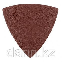 """Треугольник абразивный на ворсовой подложке под """"липучку"""", P 180, 93 мм, 5 шт Matrix"""