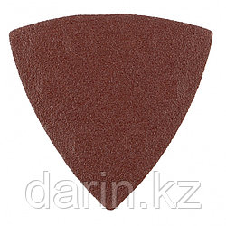 """Треугольник абразивный на ворсовой подложке под """"липучку"""", P 320, 93 мм, 5 шт Matrix"""