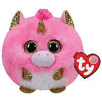 TY: Мягкая игрушка розовый единорог-шарик Фантазия, 10см