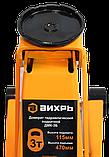 Домкрат гидравлический подкатной ДМК-3Б (3 т, 115-470 мм, быстрый подъём) Вихрь, фото 6