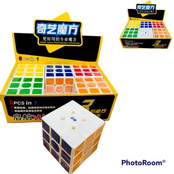 0933C Кубик Рубика 3x3 из 6шт , цена за уп.6*6см