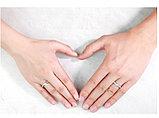 """Кольцо обручальное """"Счастье"""" Серебристое, фото 9"""