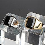 "Мужской перстень-печатка ""Самсон"" позолота, фото 2"