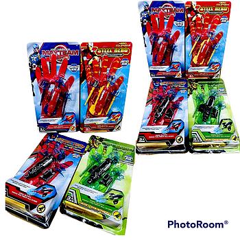 WL11187 Justice Hero перчатка Мстители стреляет стрелой 4 вида 32*17см