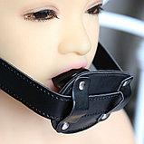 Кляп в виде фаллоса PENIS ORIGINAL, черный, фото 4