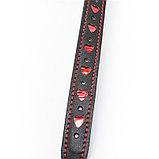 Кляп-шар БДСМ black-red с сердечками, фото 4