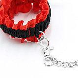 Сексуальный набор Lulu BDSM со стразами  (ошейник, наручники), фото 2