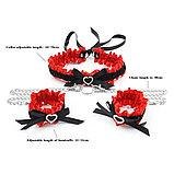 Сексуальный набор Lulu BDSM со стразами  (ошейник, наручники), фото 5