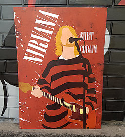 Постер Nirvana Kurt Cobain