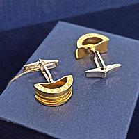 Запонки /комбинированное золото
