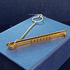 Зажим для галстука / жёлтое золото