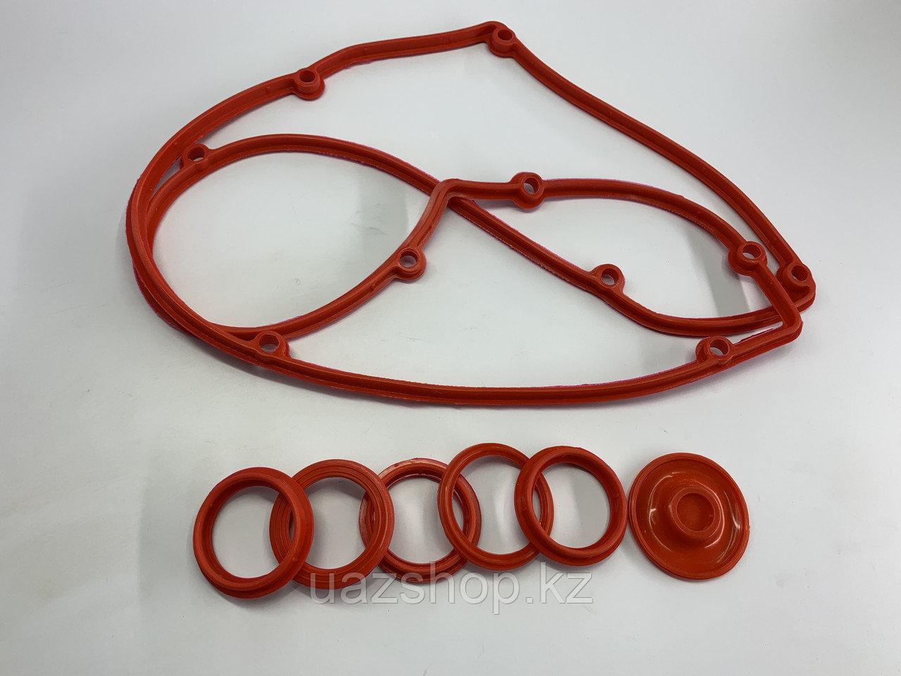 Прокладка клапанной крышки + уплотнители свечных колодцев+ диафрагма сапуна для ЗМЗ 409