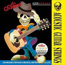 Комплект струн для акустической гитары фосфорная бронза, 11-52 Alice A206-SL Super Light