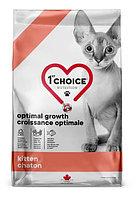 1st CHOICE GF ОПТИМАЛЬНЫЙ РОСТ для котят Треска, Лосось 1.8 кг.