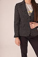 Пиджак Odendi 049-1000 ceket черный в горошек