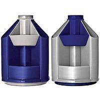 Органайзер СТАММ MINI DESK, вращающийся, серый металик/темно-синий ОР90